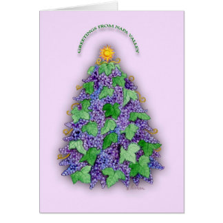 Napa Valley Grapes Christmas Tree Card