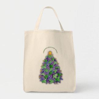Napa Valley Grapes Christmas Tree Grocery Tote Bag