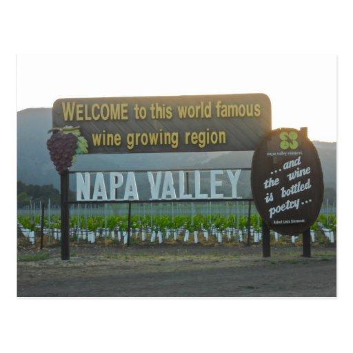 Napa Valley, país vinícola de California Postal