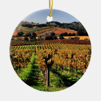 Napa Valley Vineyard Ceramic Ornament