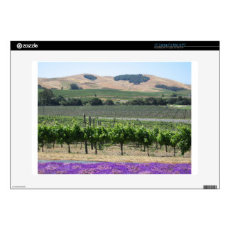 "Napa Valley Vineyard Decals For 15"" Laptops"