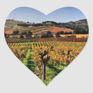 Napa Valley Vineyard Heart Sticker