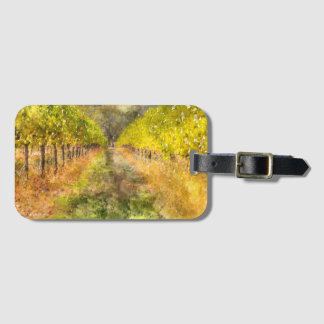 Napa Valley Vineyard in Fall Luggage Tag