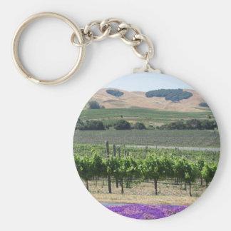 Napa Valley Vineyard Keychain