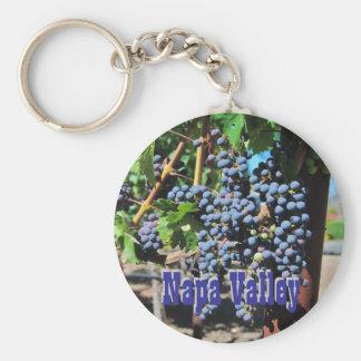 Napa Valley Vineyard Basic Round Button Keychain