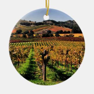 Napa Valley Vineyard Christmas Ornament