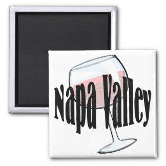 Napa Valley Wine 2 Inch Square Magnet