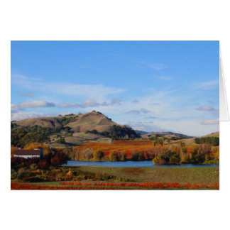 Napa Valley Wine Country in the Fall Card