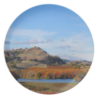 Napa Valley Wine Country in the Fall Melamine Plate