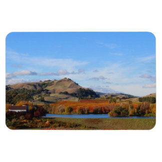 Napa Valley Wine Country in the Fall Rectangular Photo Magnet
