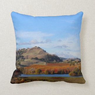 Napa Valley Wine Country in the Fall Throw Pillow