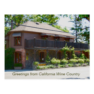Napa Valley Wine Country - Yountville Postcard