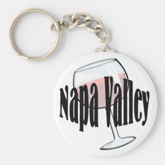 Napa Valley Wine Basic Round Button Keychain