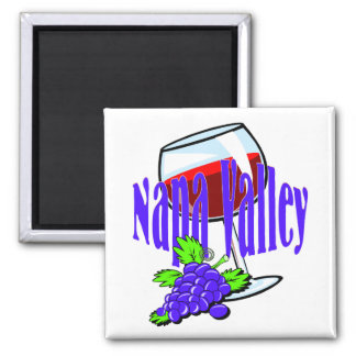 Napa Valley Wine 2 Inch Square Magnet