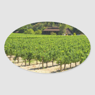 Napa Valley Winery Vineyard Oval Sticker