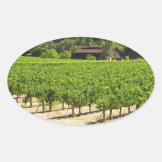 Napa Valley Winery Vineyard Oval Sticker