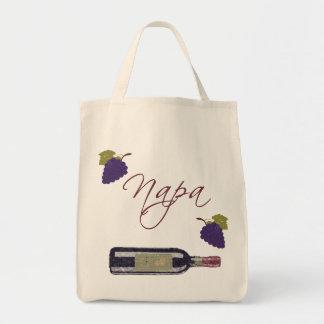Napa Vintage Wine Bottle Tote Bag