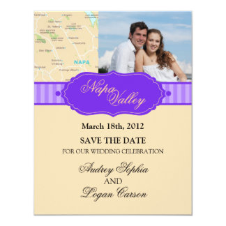 Napa Wine Coutry Save The Date Photo Announcement