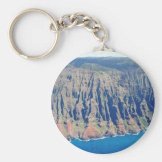 Napali Coast, HI Basic Round Button Keychain