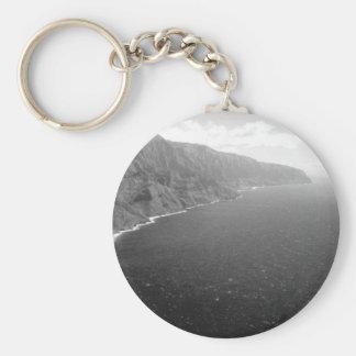 Napali Kauai HI Basic Round Button Keychain