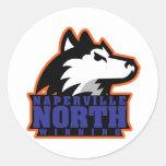 Naperville del norte pegatina redonda