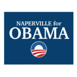 NAPERVILLE for Obama custom your city personalized Postcards