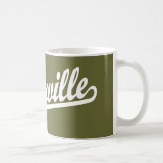 Naperville script logo in white coffee mug