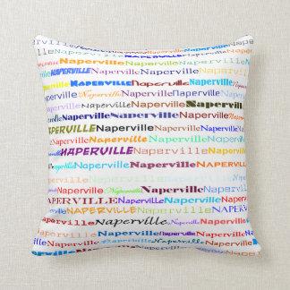 Naperville Text Design II Throw Pillow