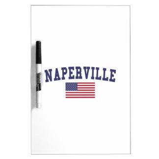 Naperville US Flag Dry-Erase Board