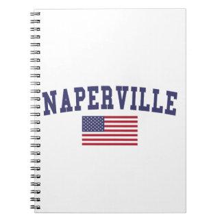 Naperville US Flag Notebook