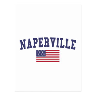 Naperville US Flag Postcard