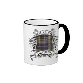 Napier Tartan Shield Ringer Mug
