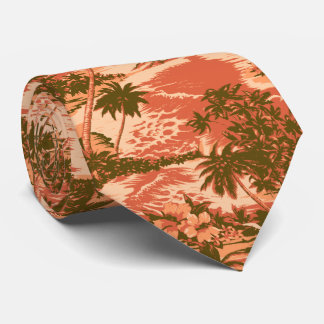 Napili Bay Tropical Hawaiian Two-sided Printed Neck Tie