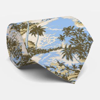 Napili Bay Tropical Hawaiian Two-sided Printed Tie