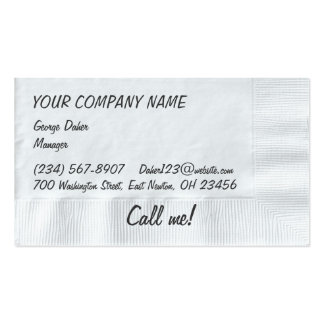 Napkin Background Business Card