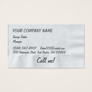 Napkin Background Business Card