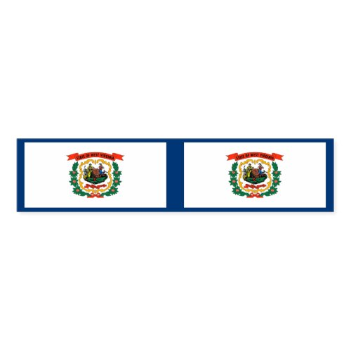 Napkin Band with flag of West Virginia State, USA