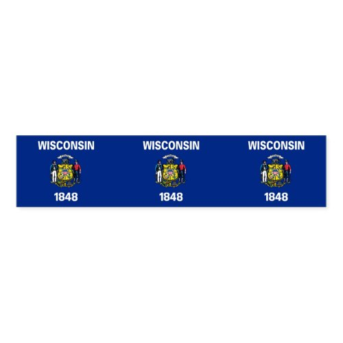 Napkin Band with flag of Wisconsin State, USA