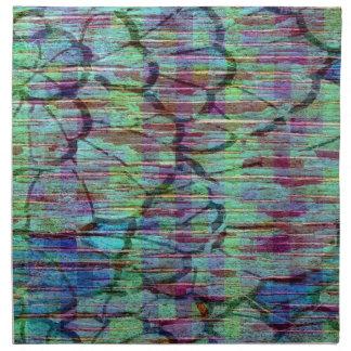Napkin - Blue Multi Color  Abstract Design Napkin