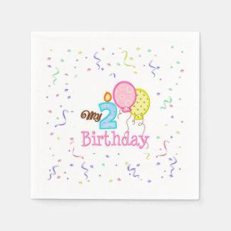 Napkin/My Second Birthday with Confetti Paper Napkin