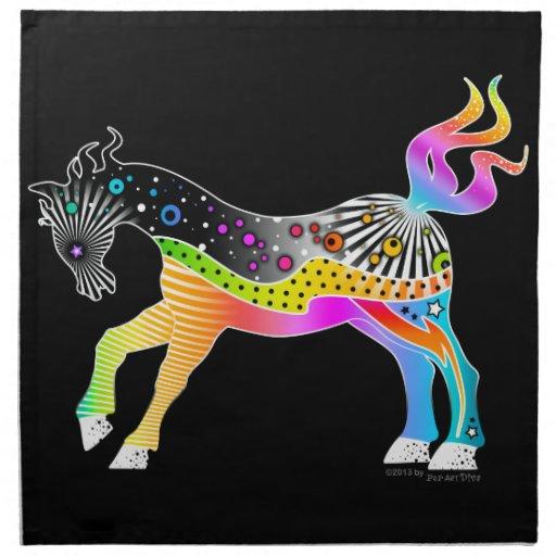 NAPKIN, POP ART HORSE PRINTED NAPKIN