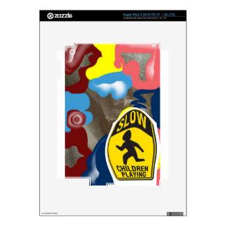 Napkin Slow Children Playing iPad 3 Decals