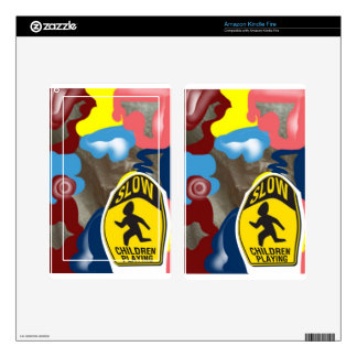 Napkin Slow Children Playing Skin For Kindle Fire