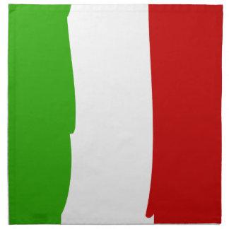 Napkin with Italian flag