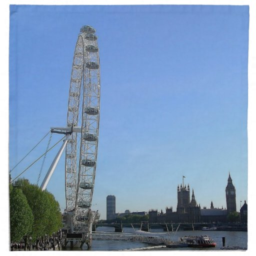 Napkin with London Eye Ferris Wheel
