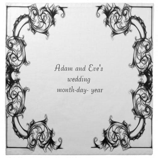napkings del boda servilleta imprimida
