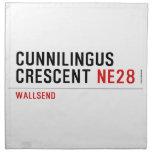 Cunnilingus  crescent  Napkins