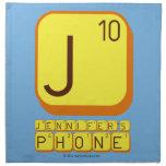 J JENNIFER'S PHONE  Napkins