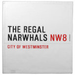 THE REGAL  NARWHALS  Napkins