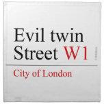 Evil twin Street  Napkins